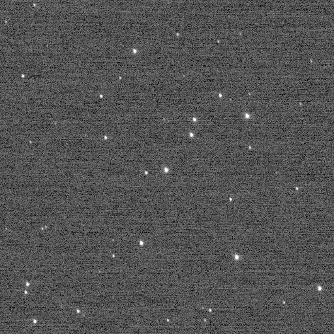 Gugus bintang Wishing Well atau Sumur Harapan yang dipotret New Horizons. Kredit: NASA