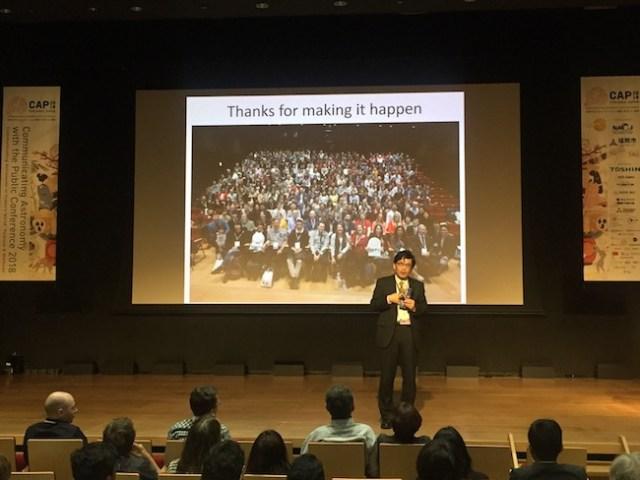 Penutupan CAP2018 oleh Hidehiko Agata ketua LOC CAP 2018. Kredit: Avivah Yamani
