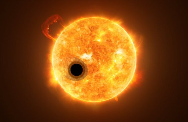 Ilustrasi exoplanet WASP-107b. Kredit: ESA/Hubble, NASA, M. Kornmesser