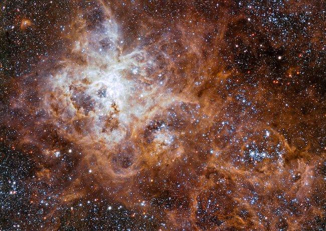 Palung kelahiran bintang raksasa, Nebula Tarantula. Kredit: ESO