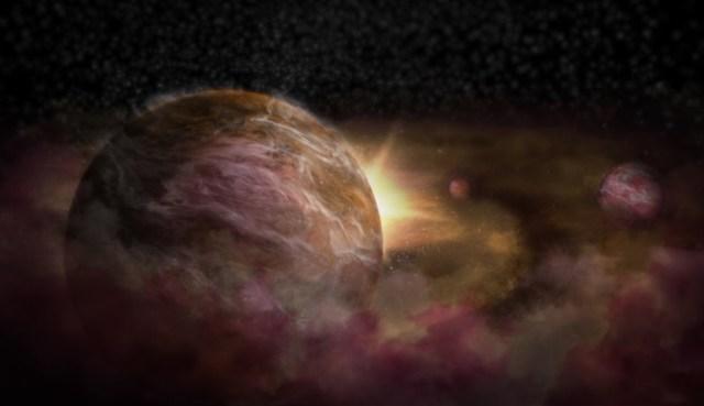 Ilustrasi bayi exoplanet di sekitar bintang muda. Kredit: NRAO/AUI/NSF; S. Dagnello