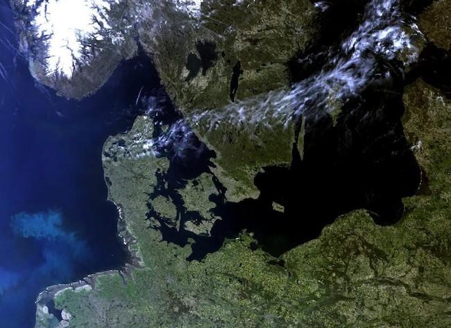 Citra Eropa Utara yang dipotret Sentinel-3. Kredit: ESA/ EUMETSAT