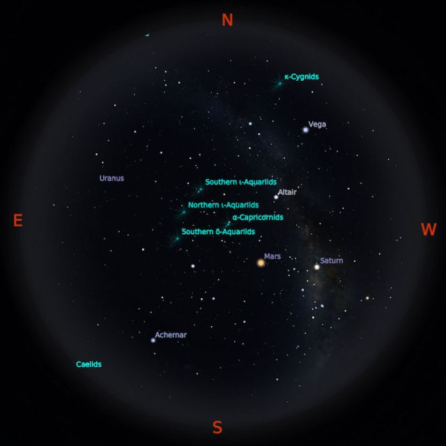 Peta Bintang 15 Agustus 2018 pukul 23:59 WIB. Kredit Stellarium