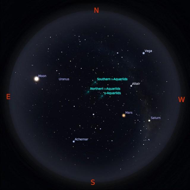Peta Bintang 1 September 2018 pukul 23:59 WIB. Kredit Stellarium
