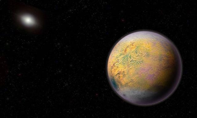 Ilustrasi 2015 TG387 atau Goblin yang sedang mengorbit Matahari dari area tepi Tata Surya. Kredit: Roberto Molar Candanosa & Scott Sheppard / Carnegie Institution for Science.