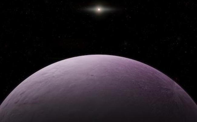 Ilustrasi 2018 VG18 atau Farout, planet katai terjauh di Tata Surya. Kredit: Roberto Molar Candanosa / Carnegie Institution for Science.
