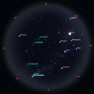 Peta Bintang 15 Februari 2019 pukul 23:59 WIB. Kredit: Stellarium