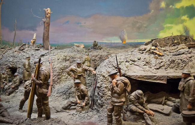 Gambaran parit perlindungan pada saat Perang Dunia 1. Kredit: Situs World War 1