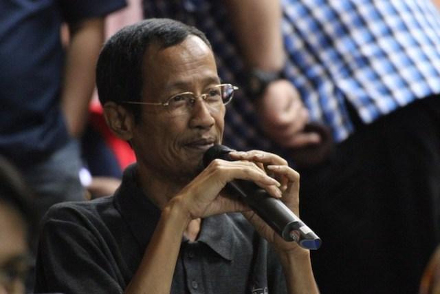 Widya Sawitar, astronom komunikator dan Bapak Astronom Amatir Indonesia. Kredit: Rakean Wisesa
