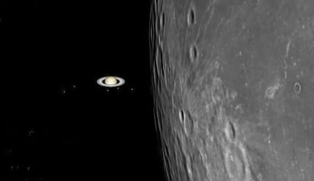 Okultasi Saturnus. Kredit: Gianlucca Masi.