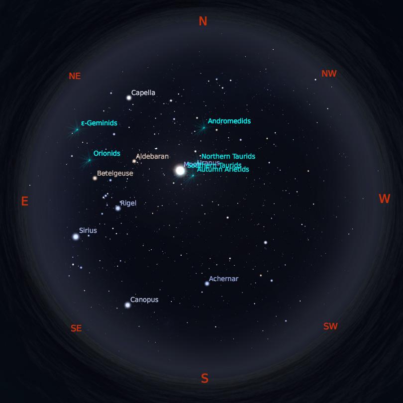 Peta Bintang 15 Oktober 2019 pukul 23:59 WIB. Kredit: Stellarium