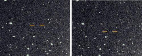Citra satelit prograde yang ditemukan di Saturnus. Kredit: Scott Sheppard