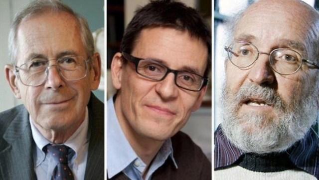 Pemenang Nobel Fisika 2019. Ki-ka: James Peebles, Didier Queloz, dan Michel Mayor. Kredit: ESA