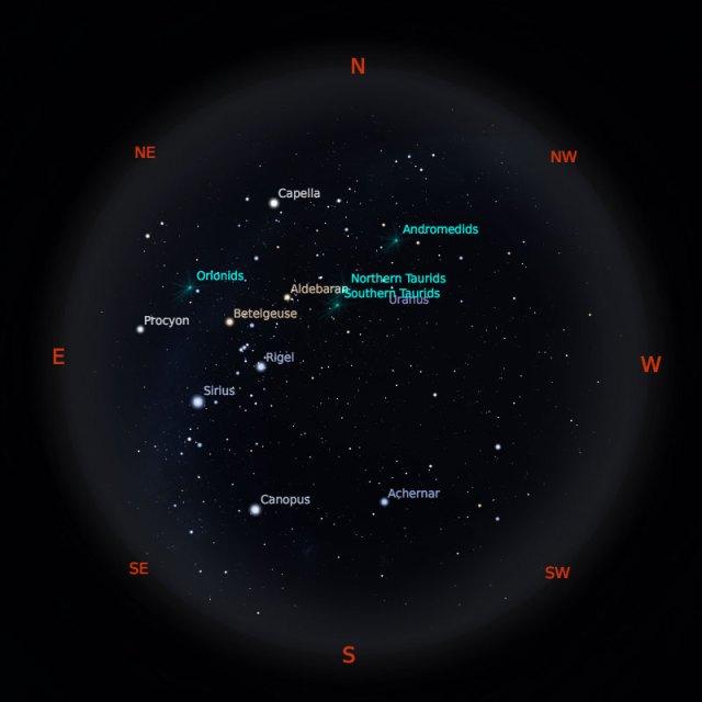 Peta Bintang 1 November 2019 pukul 23:59 WIB. Kredit: Stellarium