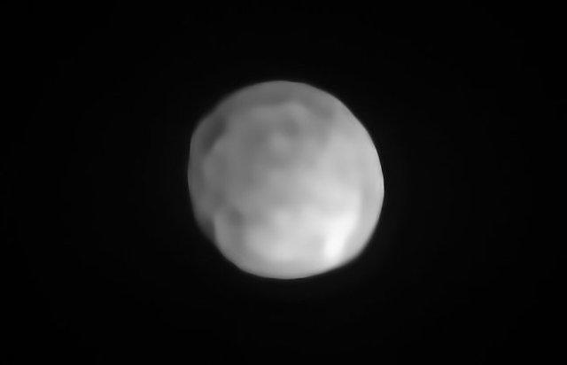 Hygiea difoto dengan SPHERE yang dipasang di VLT ESO. Kredit: ESO