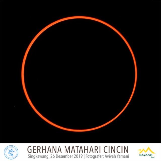 Potret Gerhana Matahari Cincin dari Dayang Resort, Singkawang. Kredit: Avivah Yamani/langitselatan