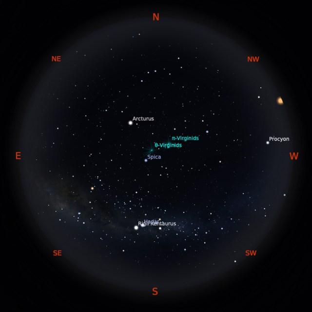 Peta Bintang 1 April 2020 pukul 23:59 WIB. Kredit: Stellarium