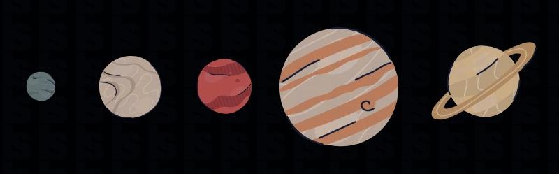 Planet yang bisa dilihat dengan mata. Kredit: Iconsy/Canva.