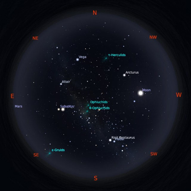 Peta Bintang 1 Juni 2020 pukul 23:59 WIB. Kredit: Stellarium