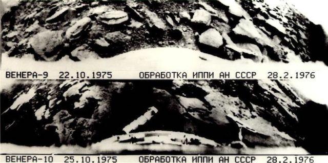 Foto permukaan Venus yang dipotret Venera 9 dan Venera 10 milik Uni Soviet. Kredit: NASA