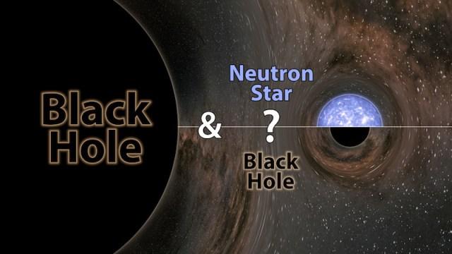GW190814, pasangan lubang hitam, atau lubang hitam dan bintang neutron? Kredit: LIGO / Caltech / MIT / R. Hurts (IPAC)