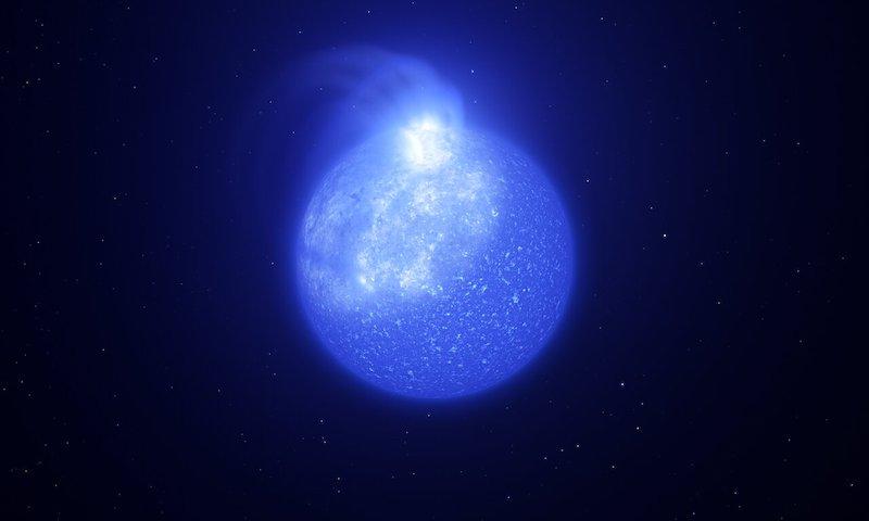 Bintik Bintang ekstrim yang mengubah kecerlangan bintang secara berkala. Kredit: ESO/L. Calçada, INAF-Padua/S. Zaggia