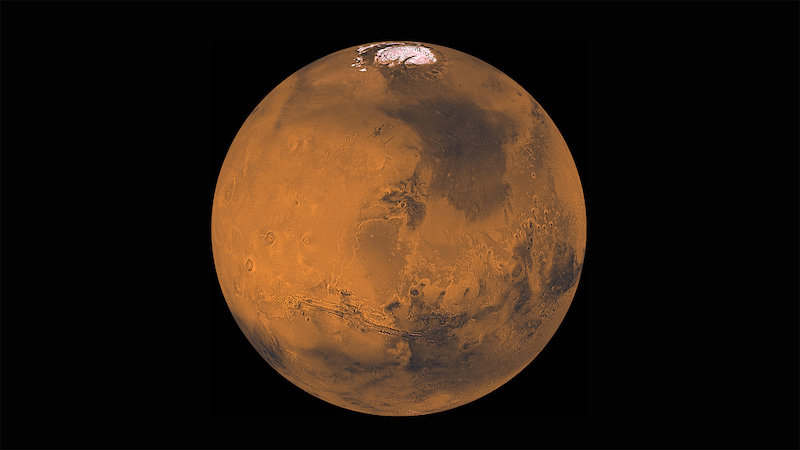 Planet Mars. Kredit: NASA