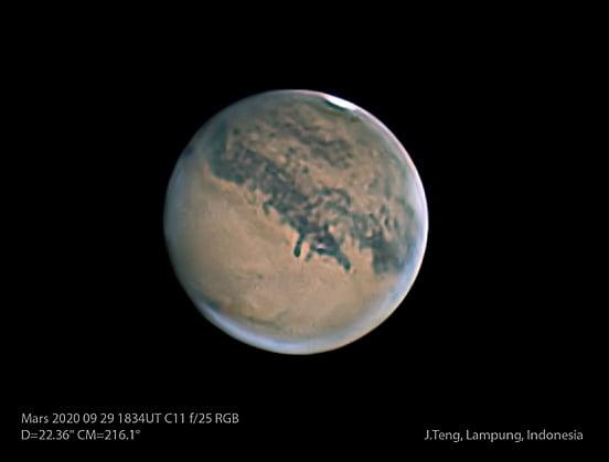 Mars dipotret oleh Jeff Teng dari Lampung. Kredit: Jeff Teng