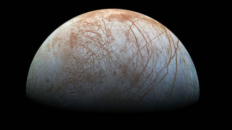 Europa dipotret oleh wantariksa Galileo. Kredit: NASA/JPL-Caltech/SETI Institute