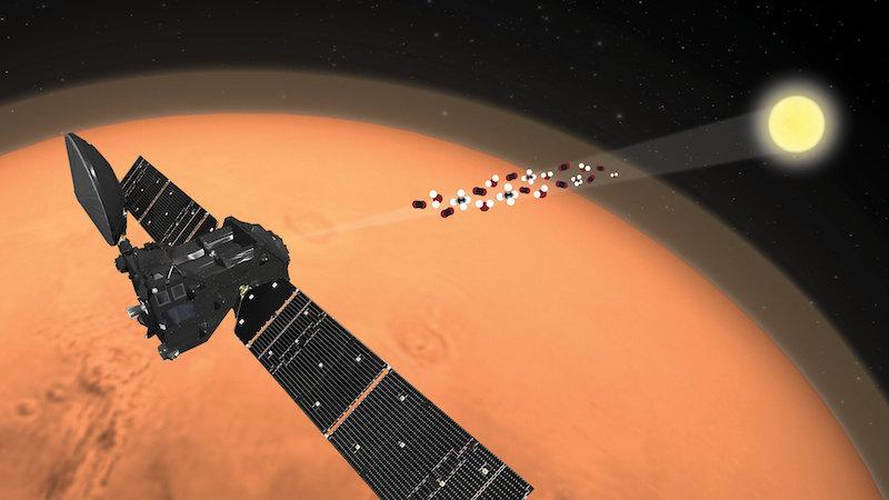 ExoMars Trace Gas Orbiter (TGO) milik ESA yang saat ini masih beroperasi di mars. Kredit: ESA