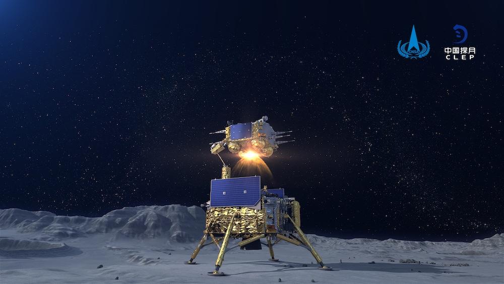 Chang'e 5, misi untuk membawa pulsang sampel dari Bulan. Kredit: CLEP