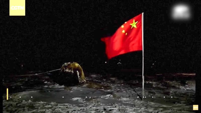 Modul Alik atau Modul Kembali yang membawa sampel Bulan tiba di Mongolia Dalam tanggal 17 Desember 2020. Kredit: CLEP/CNSA