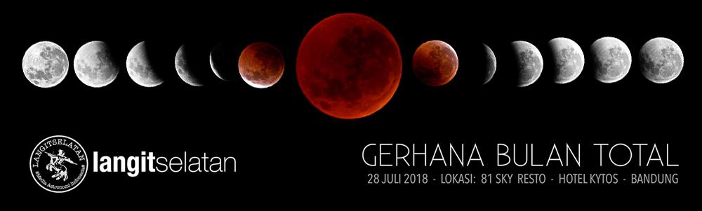 Gerhana Bulan Total 2018 yang dipotret oleh Avivah Yamani dari Hotel Kytos. Kredit: langitselatan