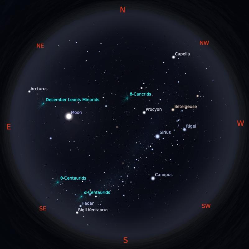 Peta Bintang 1 Februari 2021 pukul 23:59 WIB. Kredit: Stellarium