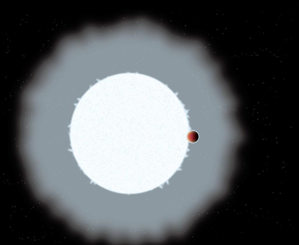 Ilustrasi exoplanet Jupiter ultra-panas, WASP-33b. Kredit: Astrobiology Center