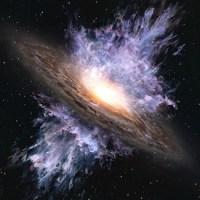 Hembusan Angin Galaksi di Lubang Hitam Kuno