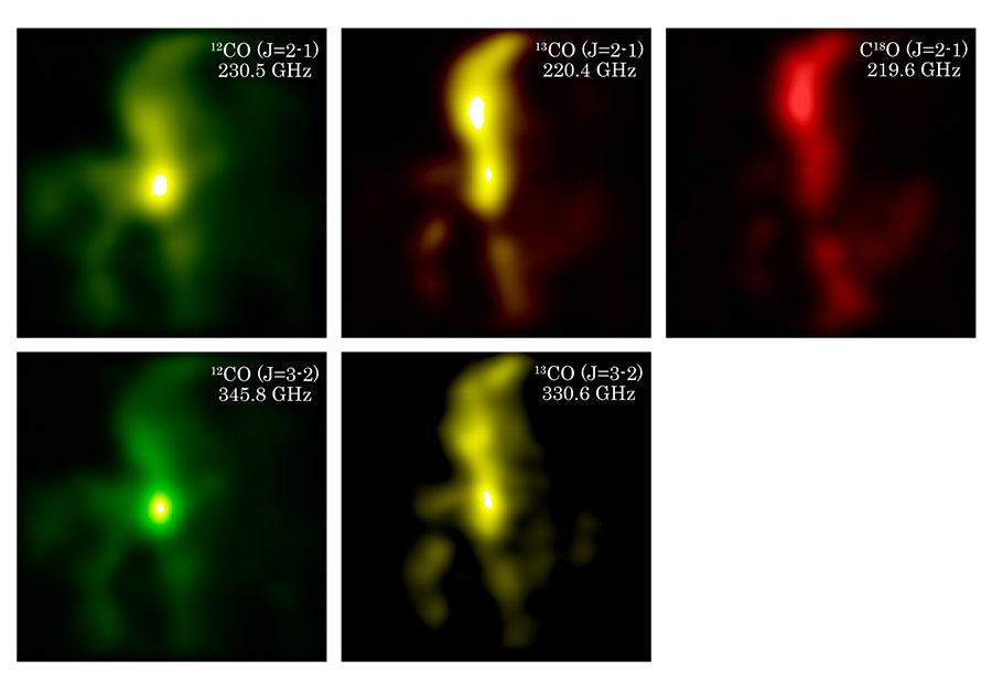 Kenampakan nebula Orion yang diterima oleh penerima radio baru secara bersamaan. Kredit:Osaka Prefecture University/NAOJ
