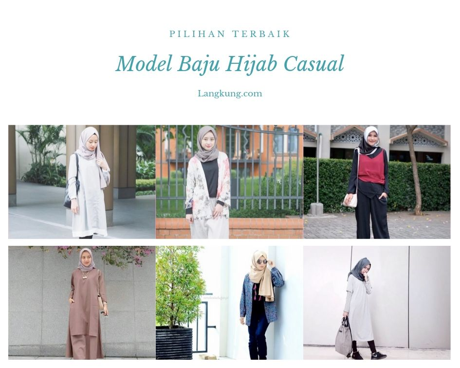 Model Baju Hijab Casual