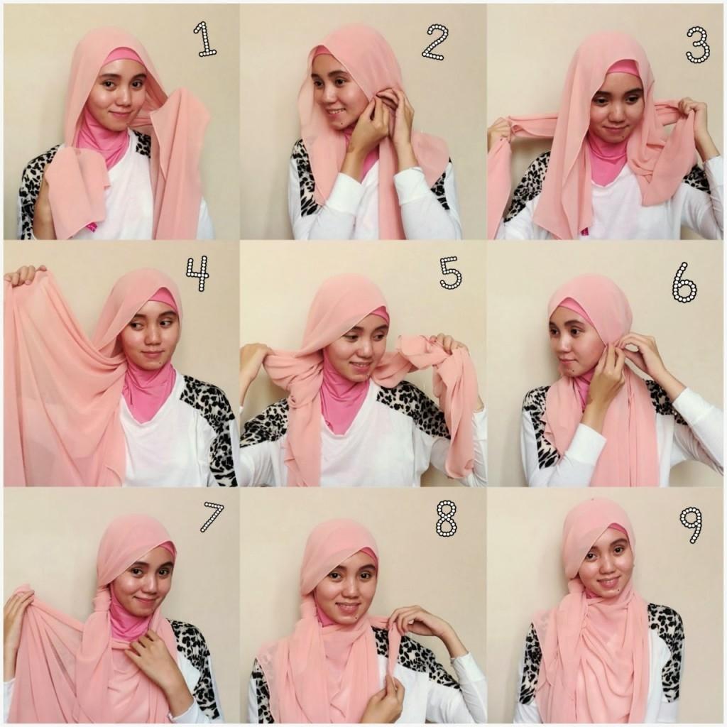 Model Hijab Untuk Wajah Bulat - langkung.com