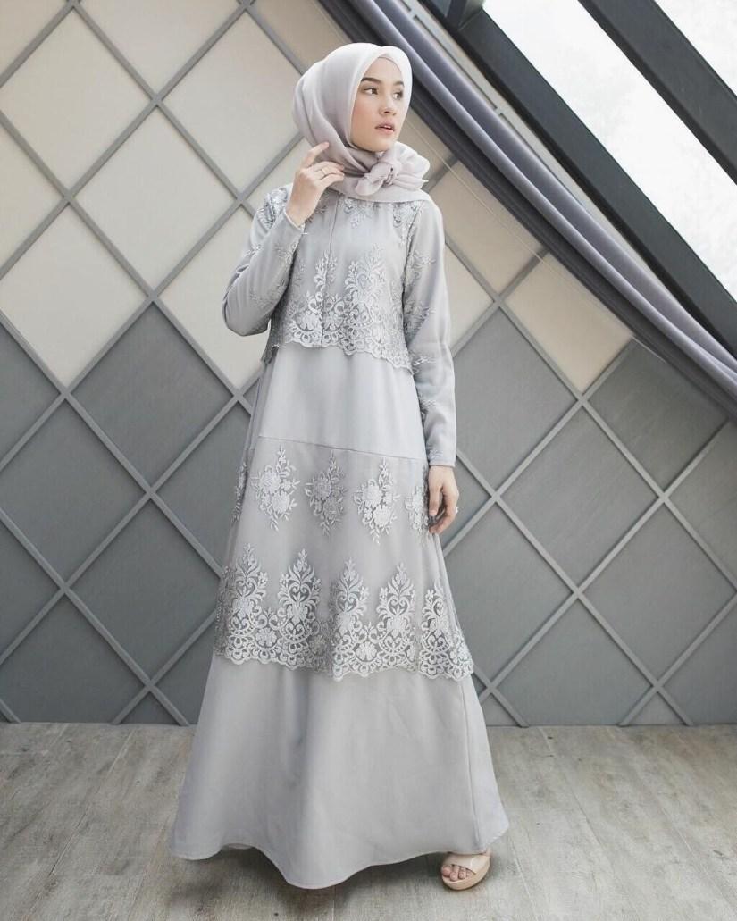baju kondangan simple hijab dengan dress model A