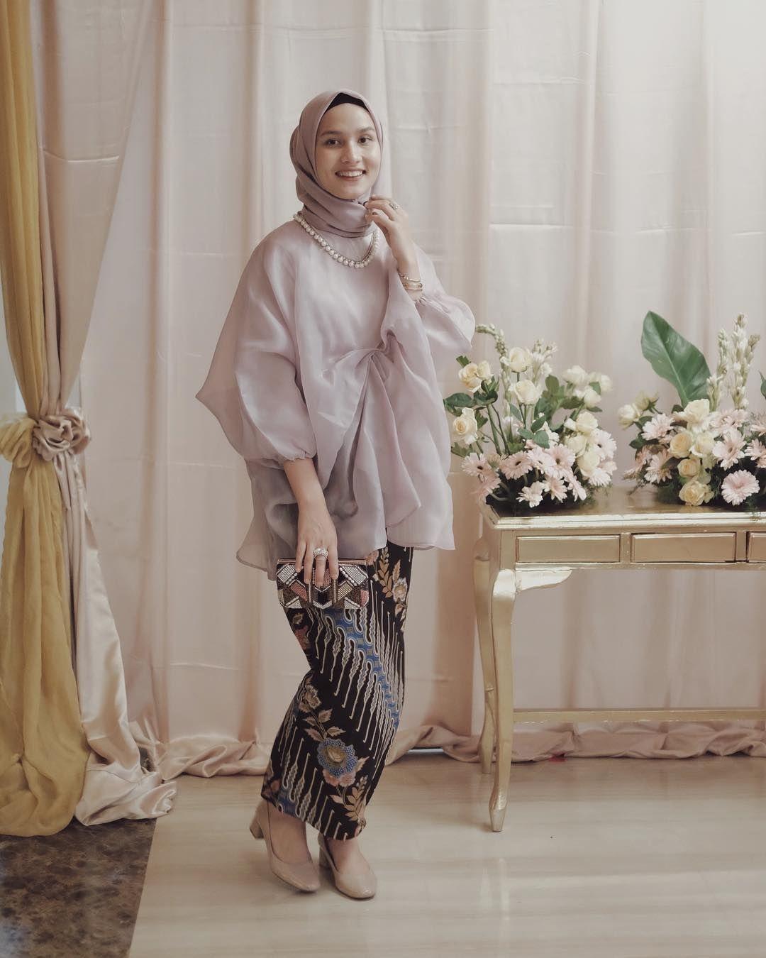 baju kondangan simple hijab dengan warna pastel