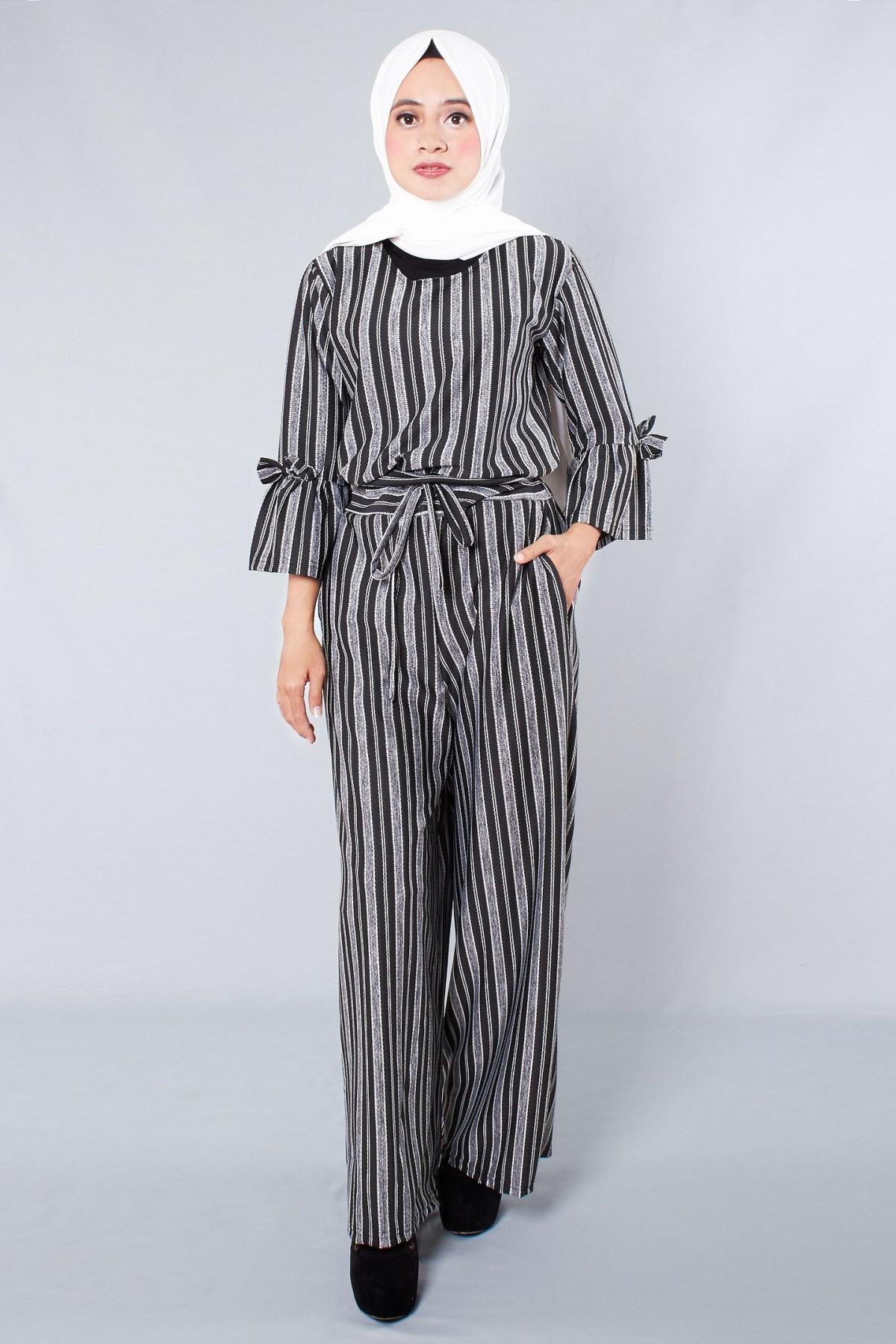 baju setelan celana hijab dengan jumpsuit