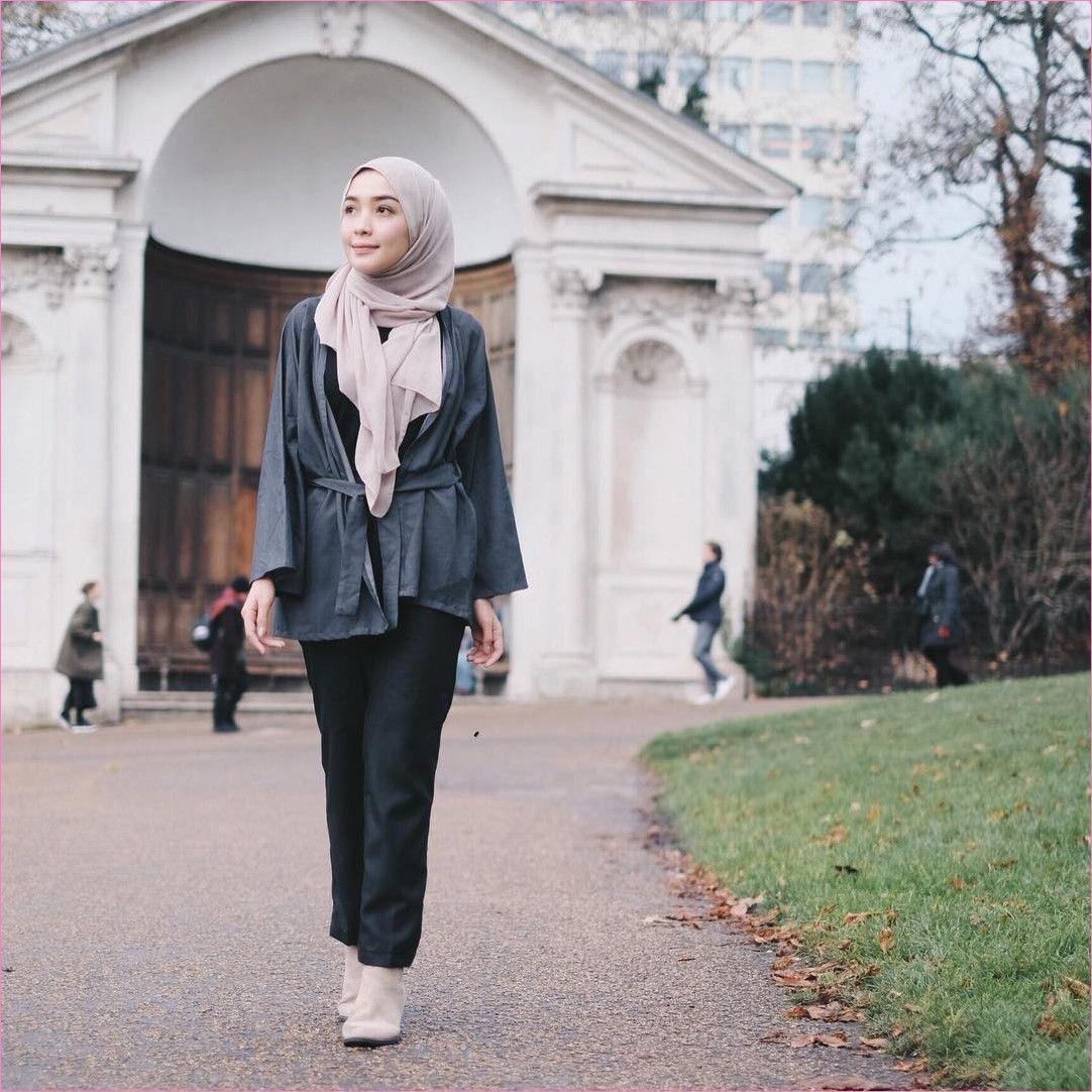 baju setelan celana hijab dengan outer kimono