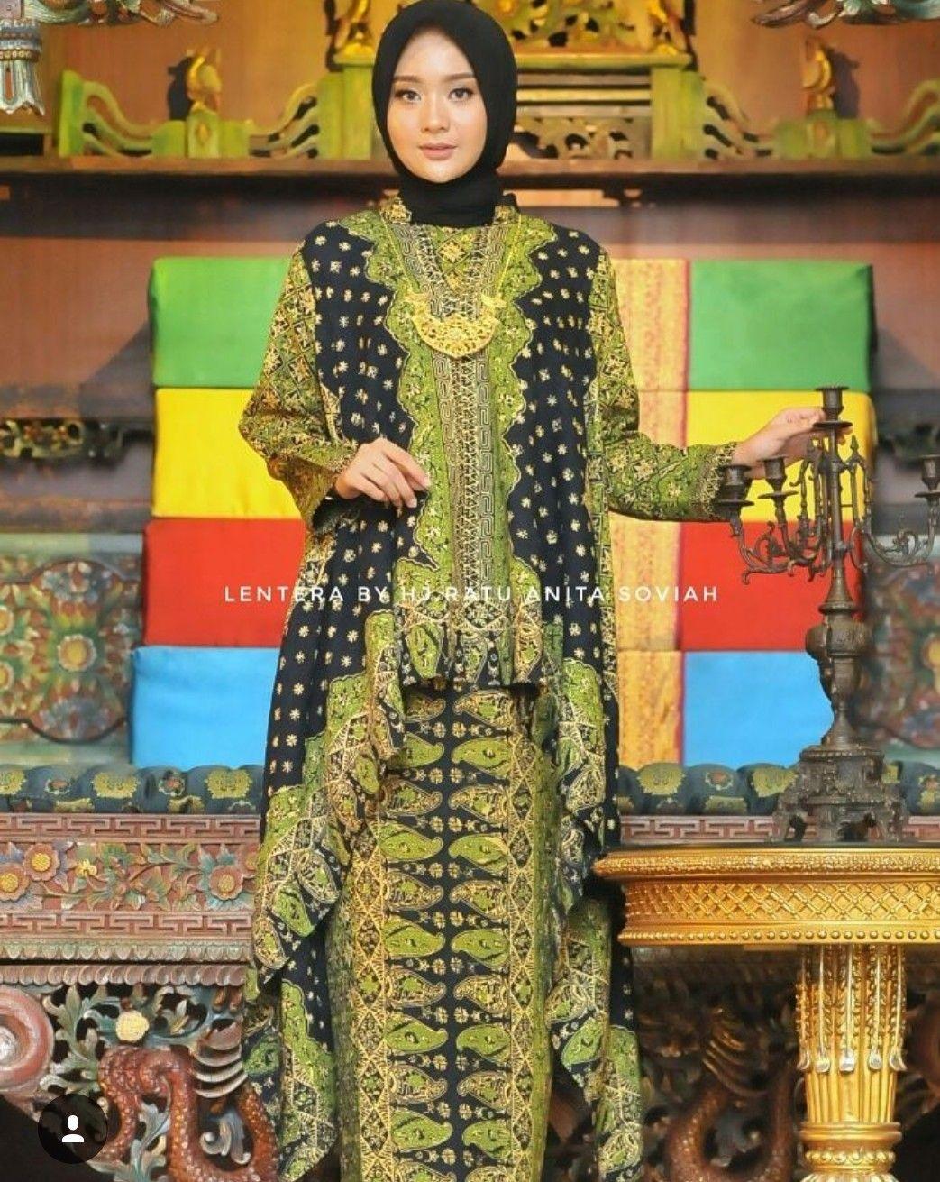 Gamis batik songket palembang