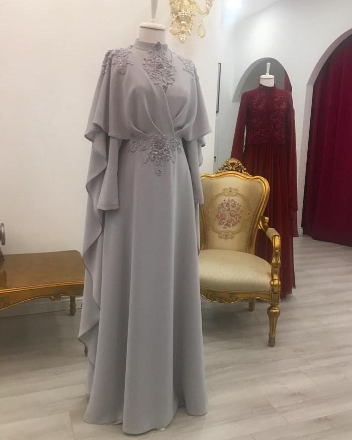 Gaun abu abu tua