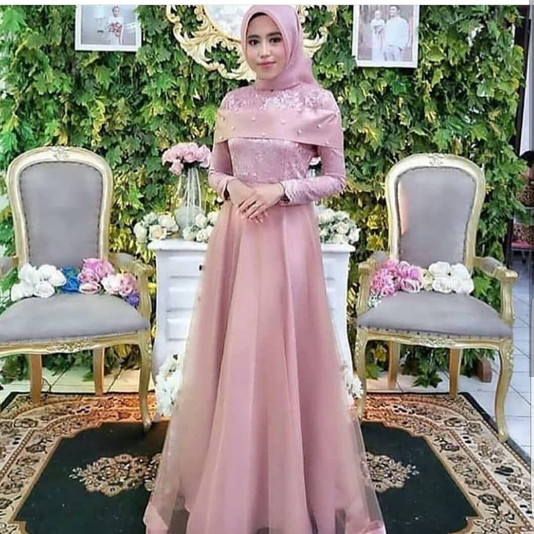 Gaun dusty pink