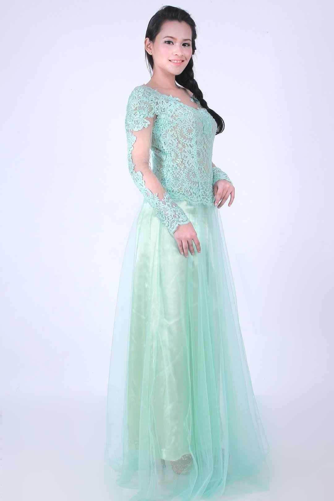 Gaun hijau tosca