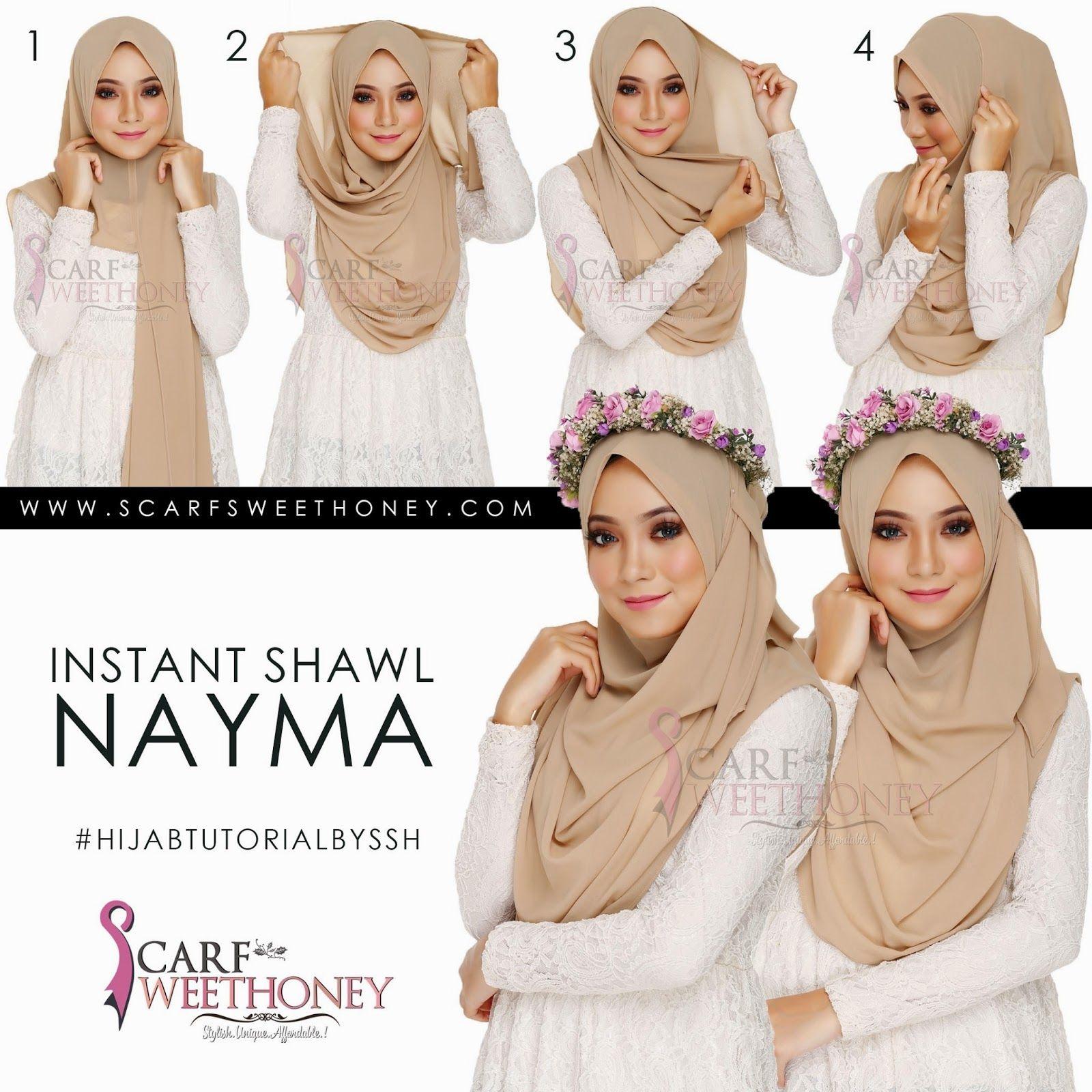 Hijab syar'i tutorial dengan scarf