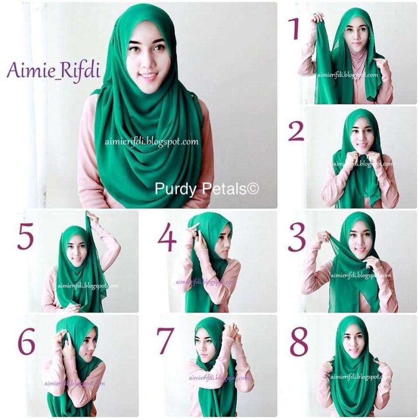 Hijab syar'i tutorial untuk tampil menawan