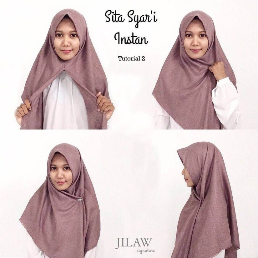Hijab syar'i tutorial yang simple